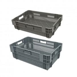 Caisse plastique emboîtable et gerbable*