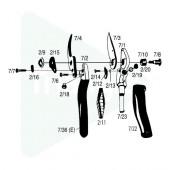 Axe pour poignée rotative pour Felco 7-10 -12