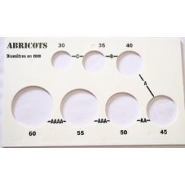 Calibreur abricot