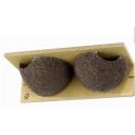 Nichoir pour Hirondelles de fenêtre - bois et béton