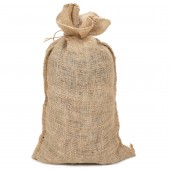 Lot de 10 sacs jute naturel