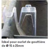 Clip gouttière pour pics anti pigeons
