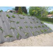 Toile de paillage perforée noire 130g/m²