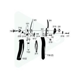 Poignees rotatives pour Felco 10
